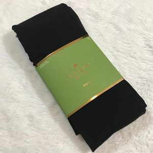 NEW KATE SPADE black tights nylon tight S/M NWT